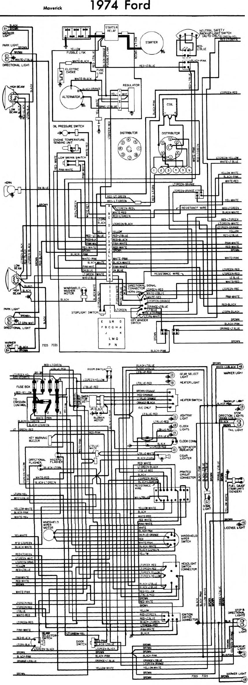 Ford Maverick Starter Wiring Completed Diagrams 1970 Diagram Schematic Data Solenoid